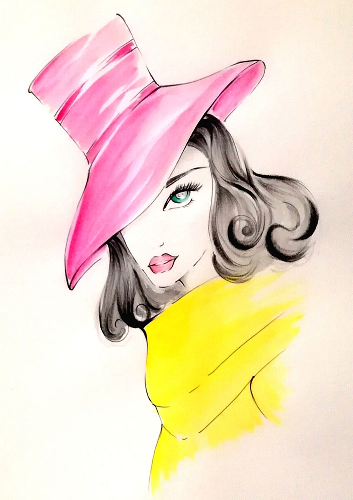 Cappello rosa