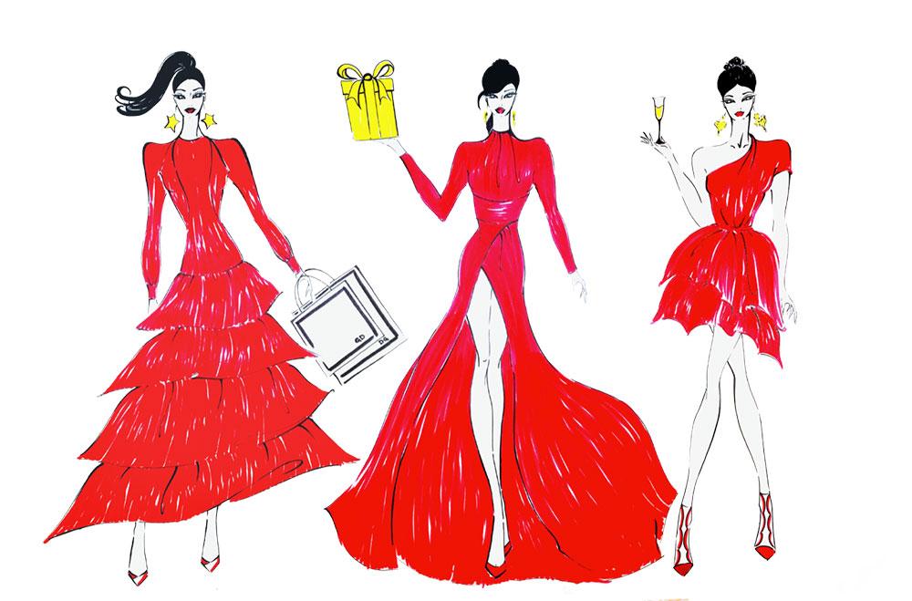 Women in red 2